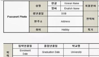 applying for a job in korea