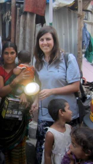Clare on assignment during the Young Professionals Program in Hyderabad