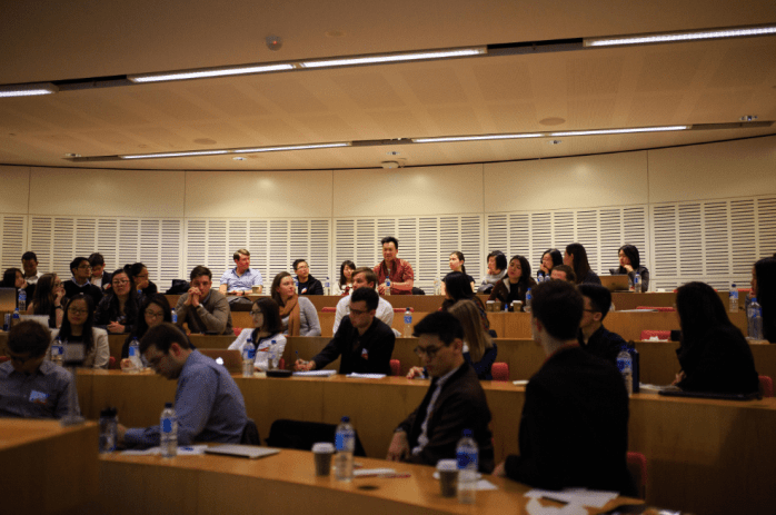 ACELS delegates in a open discussion at the New Law Building, University of Sydney