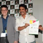 Chris Higgins working with Telgu actor Akkineni Nagarjuna at Annapurna School of Film and Media