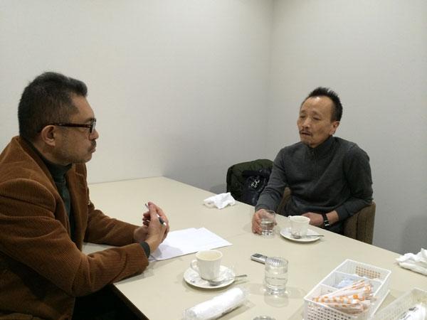 蓮池透さん(右)と石丸次郎 撮影アイ・アジア