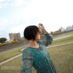 오사카에 사는 탈북자 이하나 씨. '호기심의 눈으로 비춰지는 것이 싫습니다' 촬영 김혜림.
