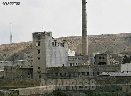 A run-down looking factory is without any signs of life. ASIAPRESS