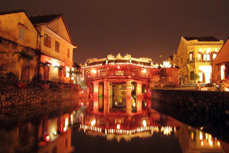 The Hoi An old town including the Japanese Bridge