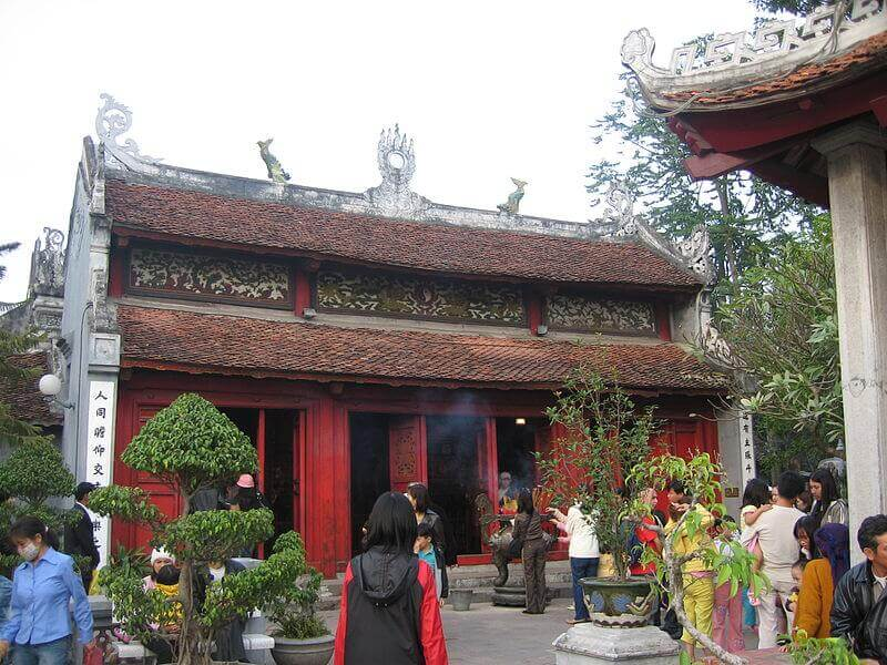 Ancient features of Ngoc Son Temple