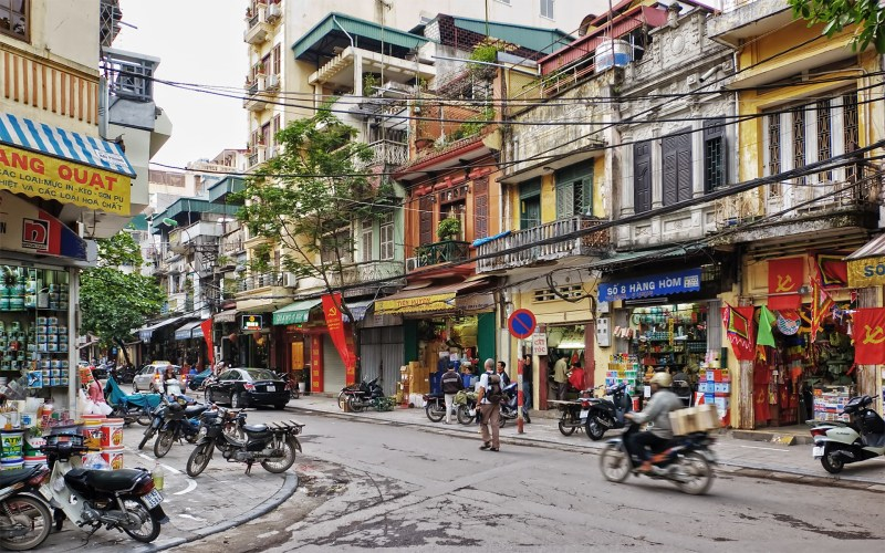 Hanoi 36 streets is a very attractive image of Ha Noi