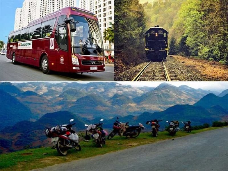 There are many choices in transport to Sapa tours