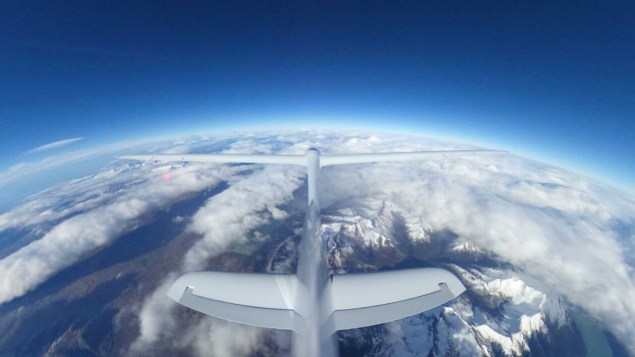Perlan tail shot at 30000ft. Picture: The Perlan Project