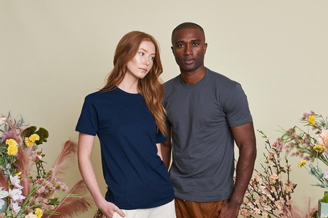 Young couple in sustainable activewear
