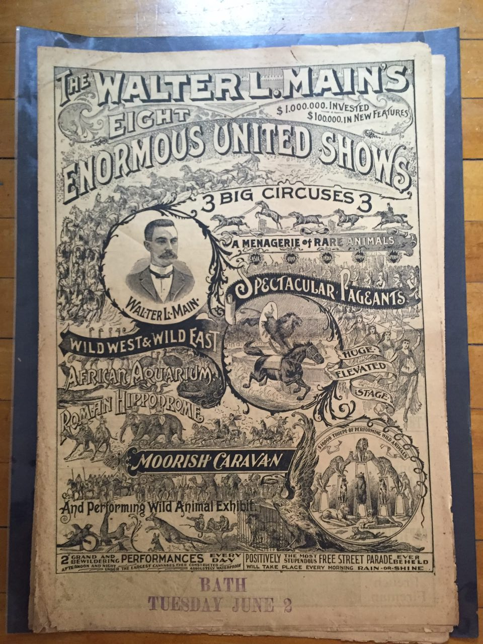 Walter L. Main Circus promotional poster