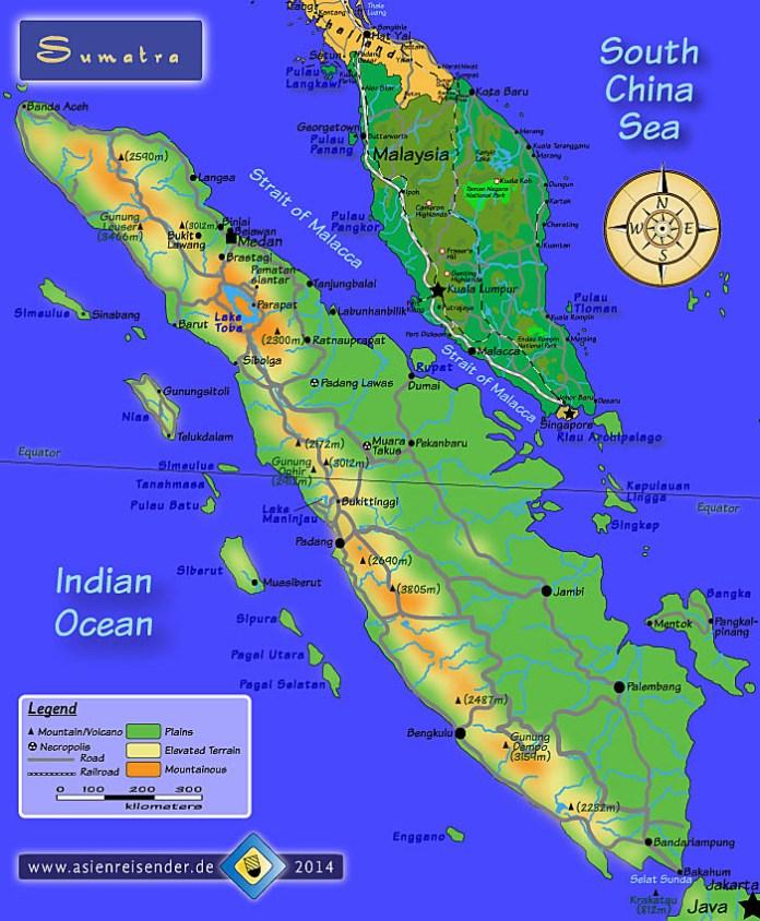 Sumatra Map Sumatra Asienreisender