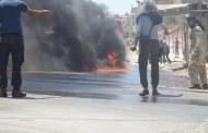 صور تراها لأول مرة من حريق في إدلب ناتج عن غارة HD