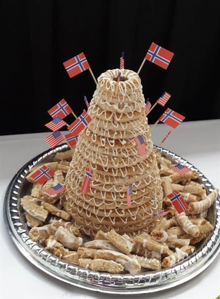 norwegian wedding cake pans kransekake almond cake a simple homestead 17928