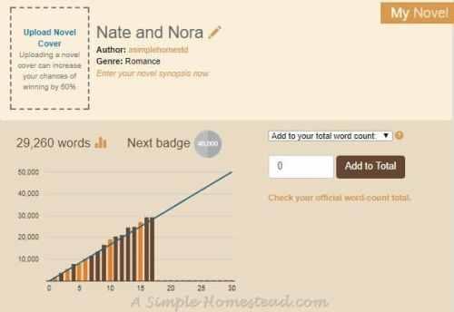 NaNoWriMo 2017 Chart, day 16