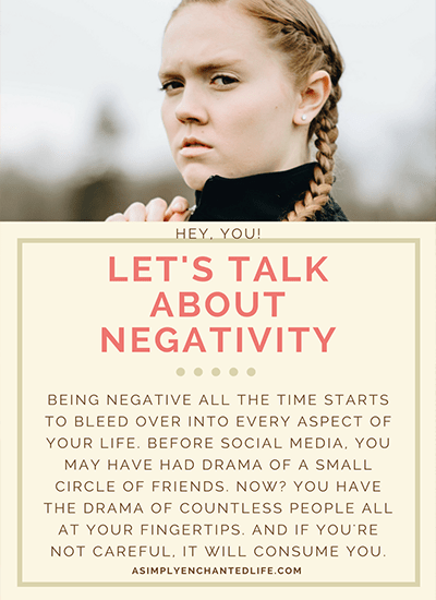 Hey, you! Let's talk about your negativity!