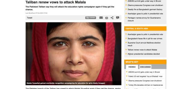 Taliban renew vows to attack Malala - Central & South Asia - Al Jazeera English - 2013-10-09_10.09.34.png