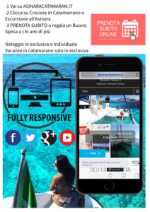 Come prenotare escursione o vacanza in Catamarano con Asinara Catamaran