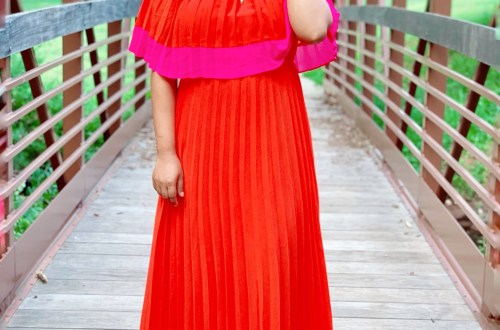 Places to wear a pleated maxi dress