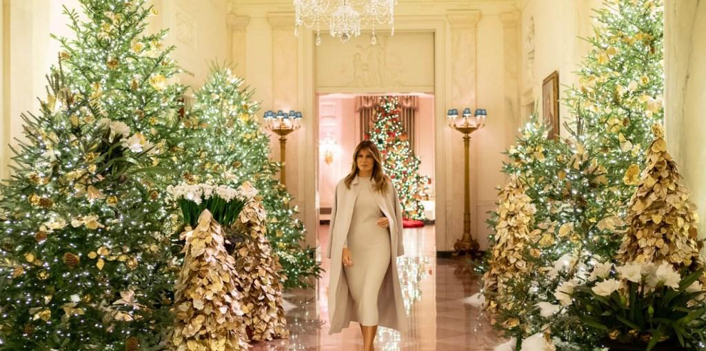 Χριστούγεννα στον Λευκό Οίκο: πολυτέλεια και λάμψη με την υπογραφή της Μελάνια Τραμπ