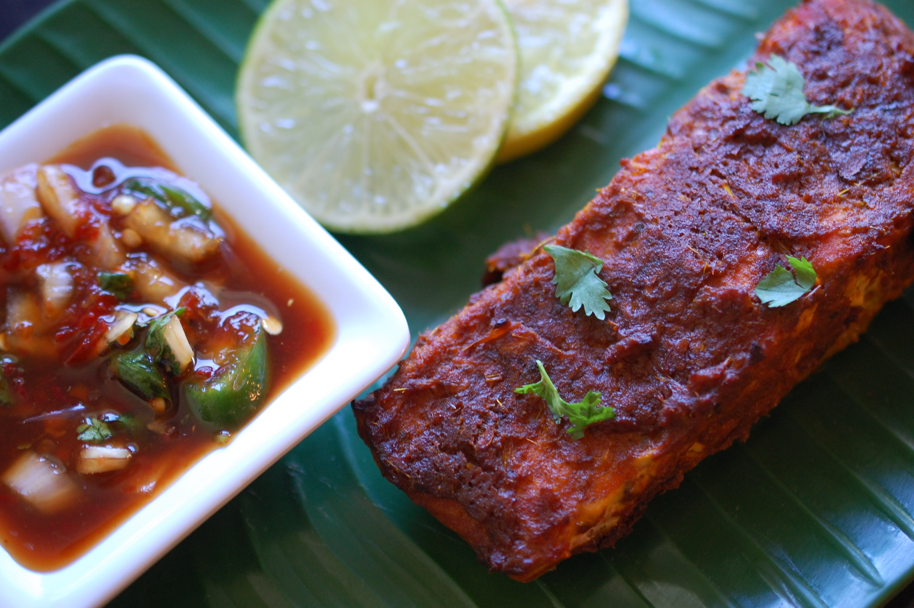 """The special Ipoh """"ikan bakar"""" is being served right here somewhere along Route 66. Isn't that for real?"""