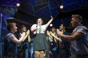 Faye Christall as Young Rachel (centre) with Five To Five as The Band in The Band, credit Matt Crockett