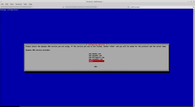 Run a DynDNS client under Raspbian - Service provider