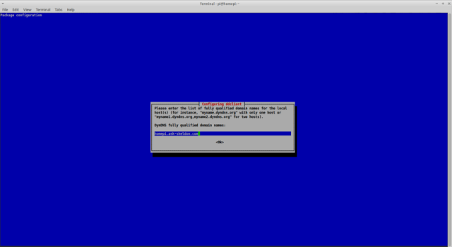 Run a DynDNS client under Raspbian - FQDN
