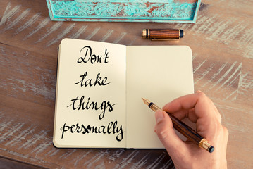Don't Take Personally