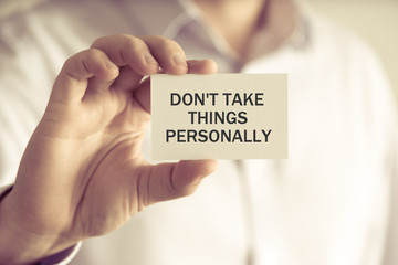 Don't Take Personally