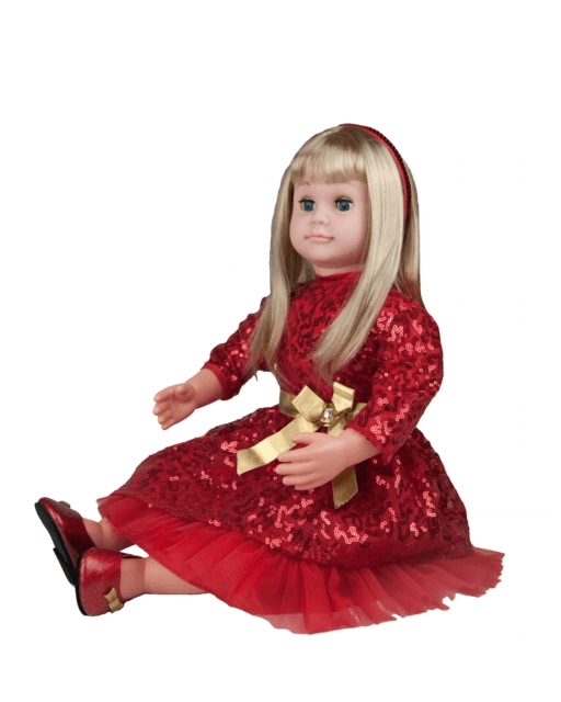 red dress blond doll