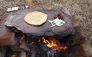 Hot Stone Cooking primitive