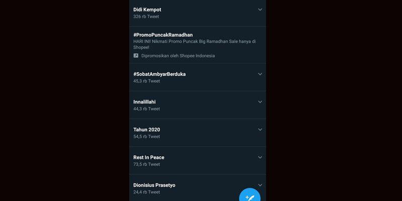 Duka Cita Sobat Ambyar Warnai Top Trending Twitter