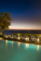 The pool deck at dusk - pic supplied