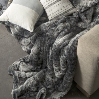 Diane faux fur blanket