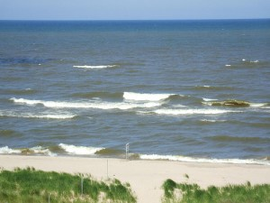 Waves on the Shore of Lake Michigan 4