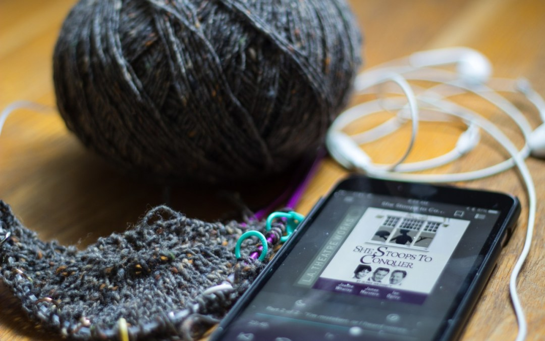 Listening and Knitting and BINGO
