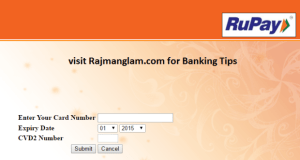 Rupay Card registration