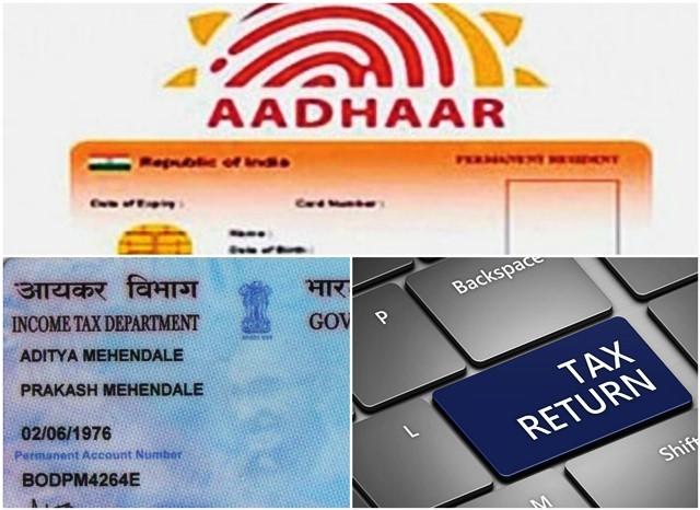 Aadhaar-PAN-IT-return