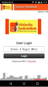 Login Syn e-passbook Application on Android