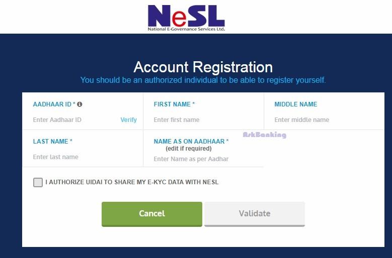 NeSL Registration Syndicate-Bank
