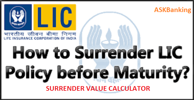 LIC Surrender Value Calculator