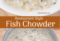 Pinterest image for fish chowder