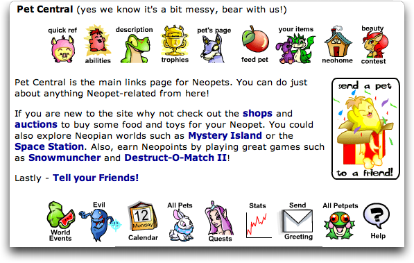 Neopets: Neopia Pet Central