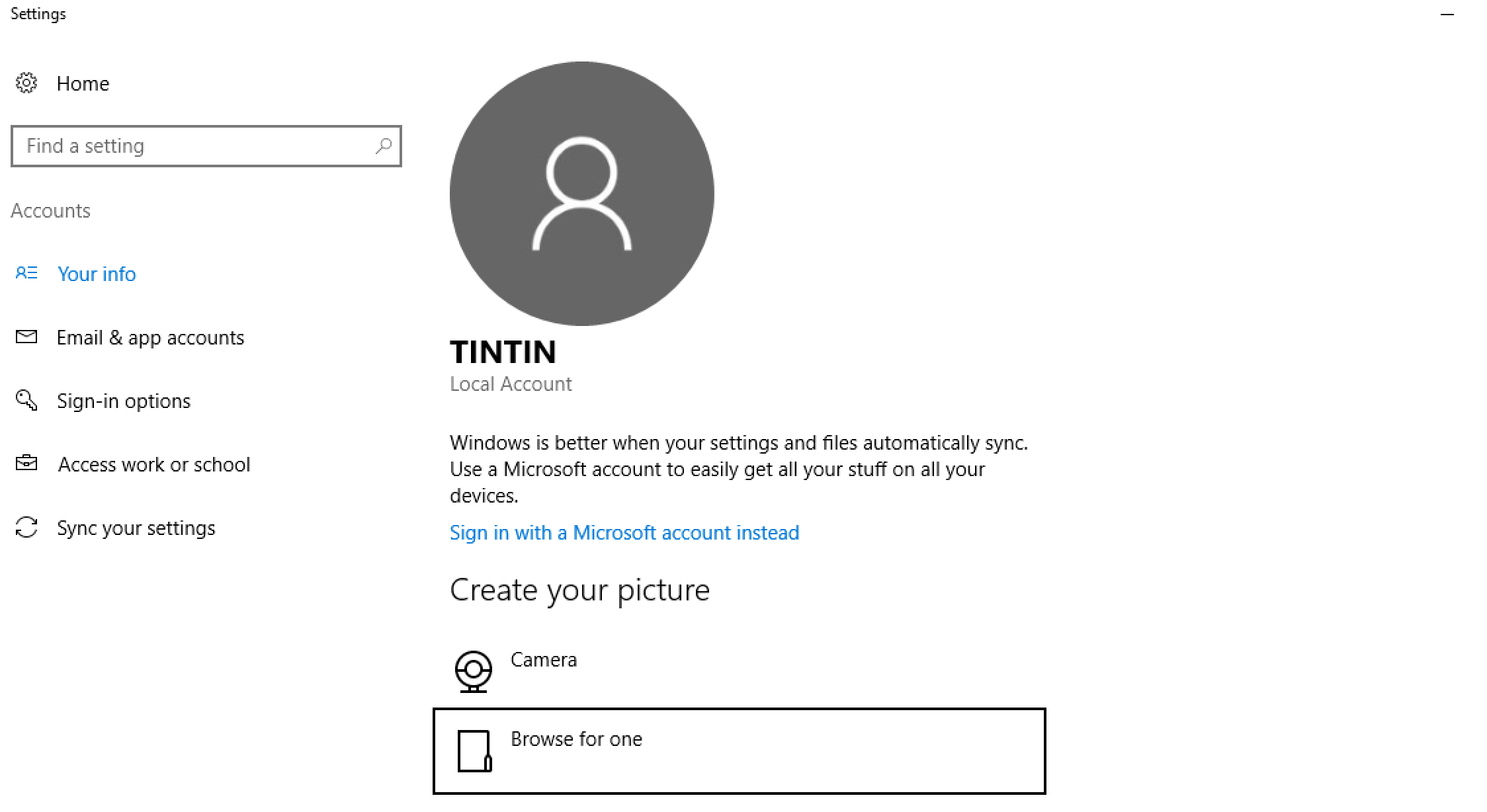 Add A Profile Photo Or Picture To Your Windows 10 Account