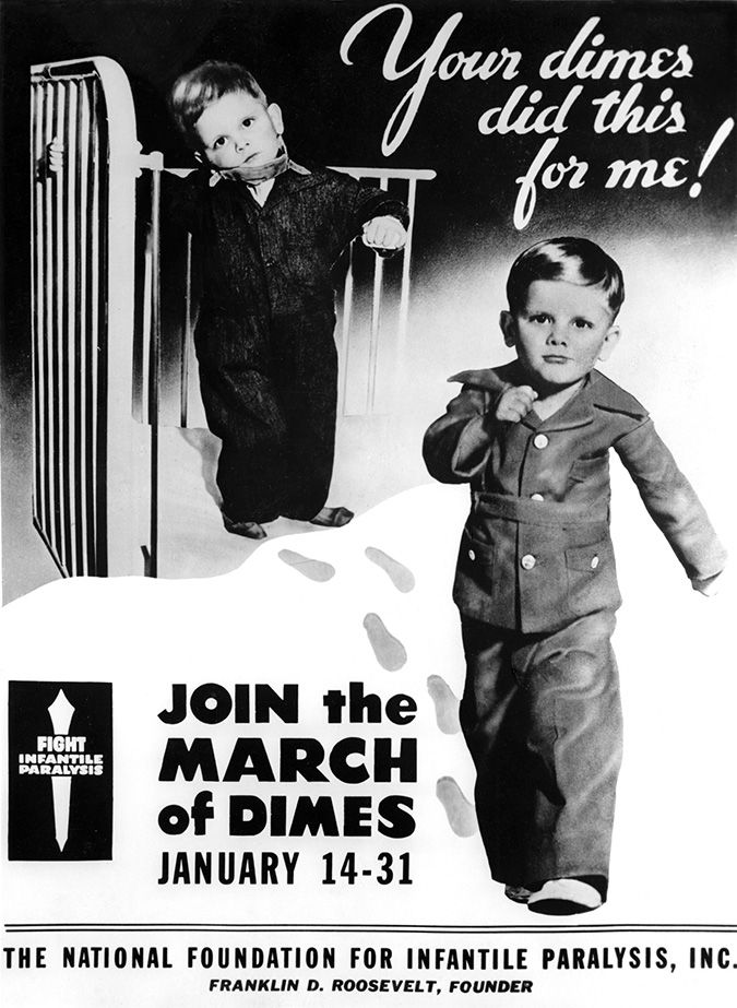 "Donald Anderson was the first ""poster child"" for the March of Dimes."