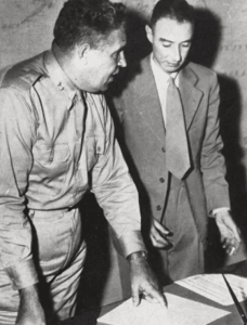 Leslie Groves and Robert Oppenheimer.