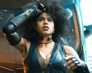 "DEADPOOL: ""Luck's certainly not very cinematic!"" DOMINO: ""Yes it is."""