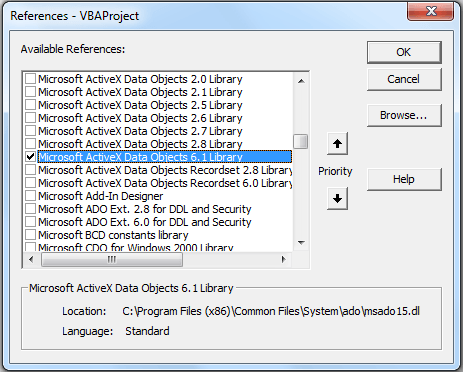 import access table