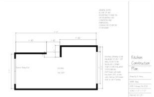 Mary's Kitchen - Construction Plan