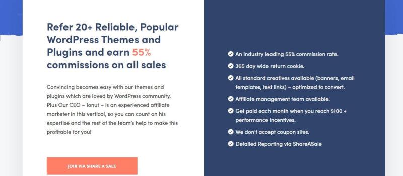 10 WordPress Themes Affiliate Programs